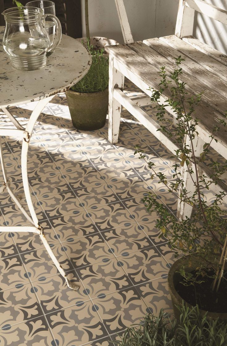 Beautiful Rococo tiles are suitable for indoor and outdoor spaces - ideal for injecting pattern into a plain area. Available in 2 other colourways, take your pick!