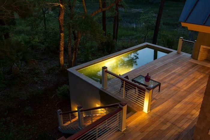 17 meilleures id es propos de clairage de la terrasse for Luminaire terrasse bois