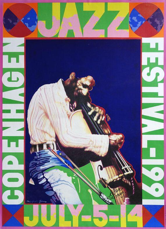 1991 Copenhagen Jazz Festival  Original Vintage by OutofCopenhagen