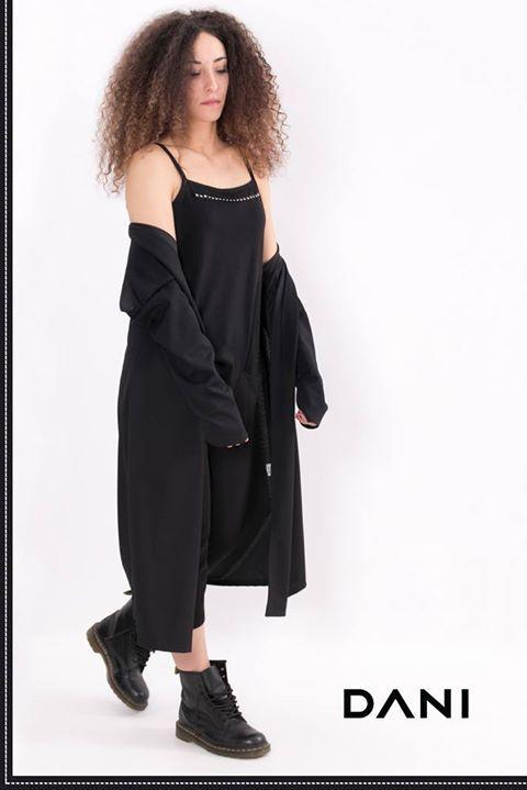 DANI | 2017 collection for woman Giacca lunga e salopette con borchie