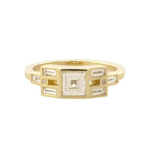 Mociun Carre Cut & Baguette Diamond Ring