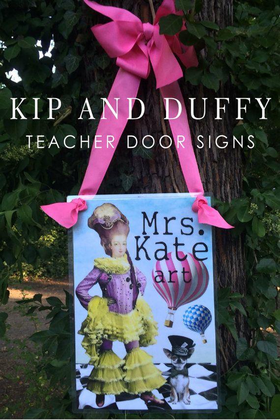 Teacher Sign Dorm Door Sign Dorm Deco by kipandduffy on Etsy