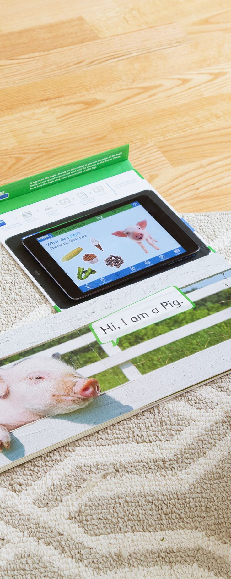 Connected books, blocks, flashcards, and games come to life on the iPad. By combining playtime and screen time, kids learn while having fun.