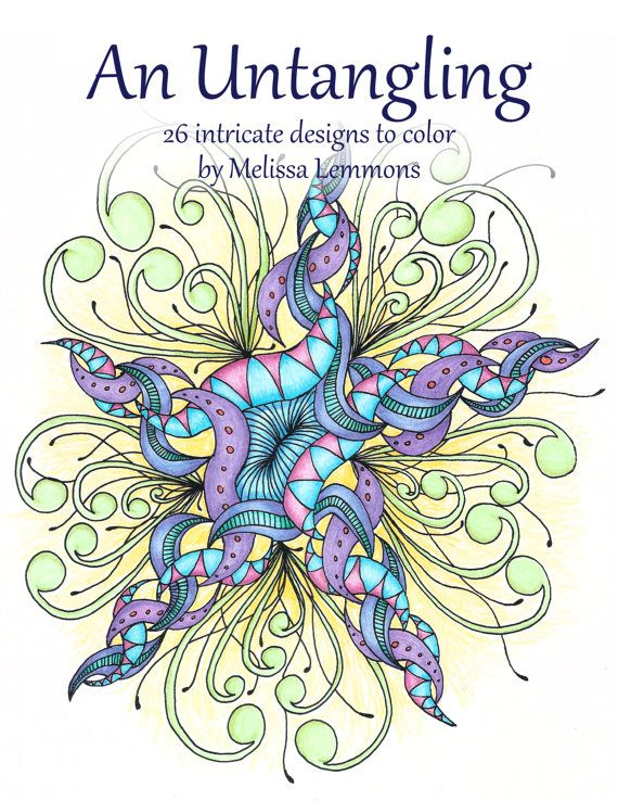 An Untangling Adult Coloring Book PDF Digital By MLemmonsDesigns
