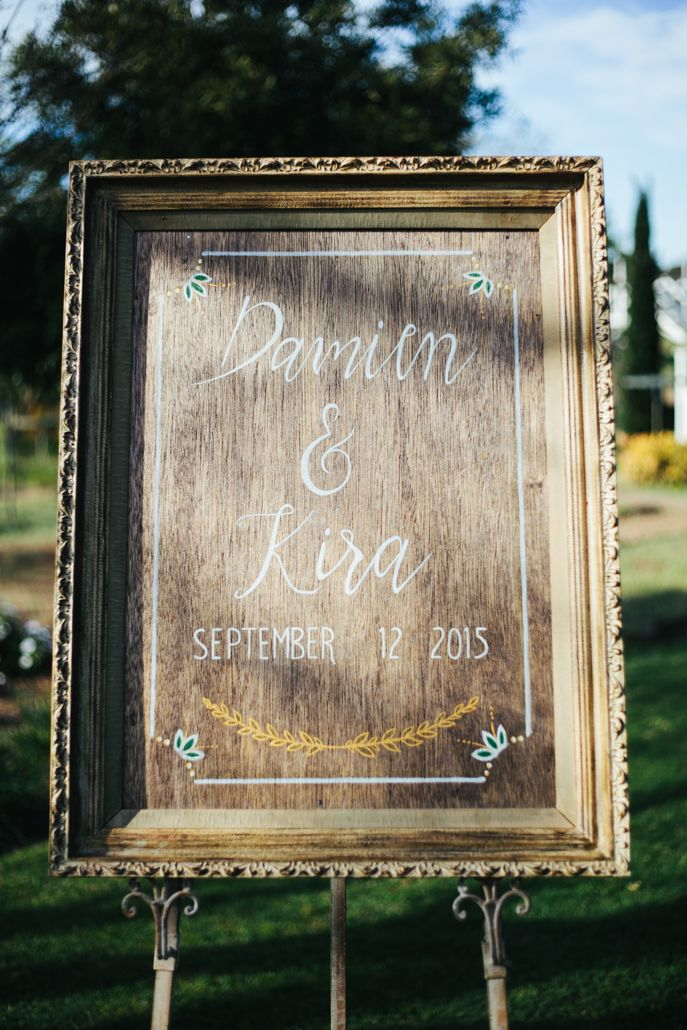 Our welcome sign made by my father. Something so simple. The frame we purchased from our local markets for $5