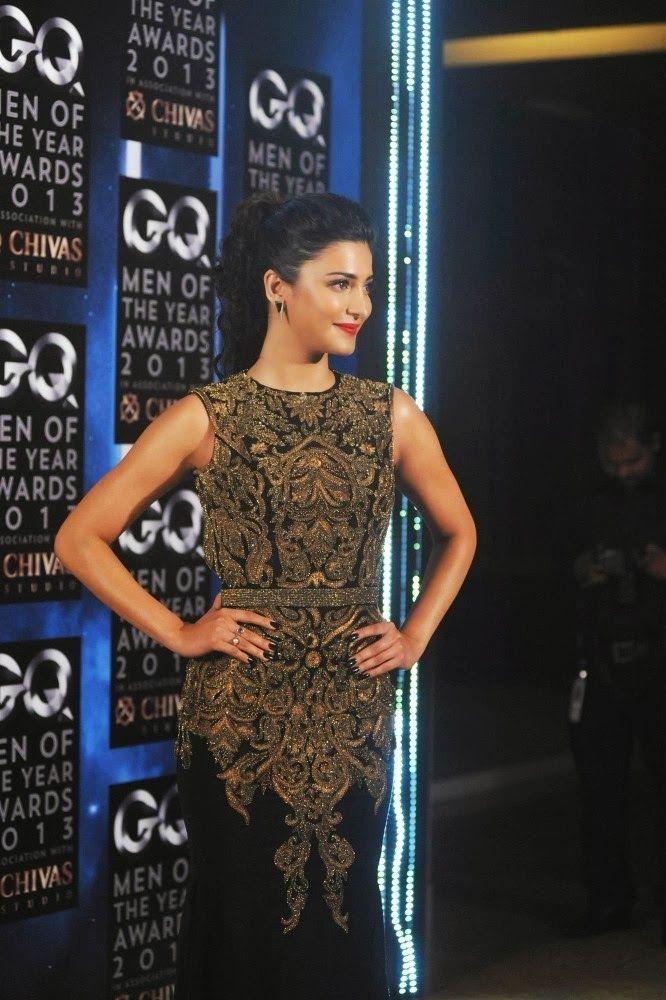 Shruti Hassan at GQ Man of The Year Awards 2013.