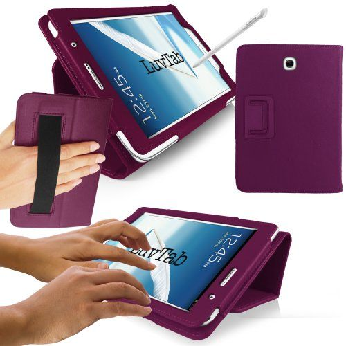 LuvTab® Samsung Galaxy Note 8.0 (8 inch tablet) Multifunctional Multi Angle Wallet Stand Case with 'Sleep Sensor' (PURPLE) LuvTab http://www.amazon.co.uk/dp/B00BRLHBUI/ref=cm_sw_r_pi_dp_PURYub12MSP62