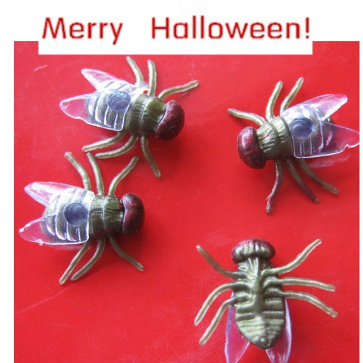 Best Seller Free Shipping 20 PC Halloween festival funny Realistic Plastic Flys Joking Toys for kids fun or decoration Aug3