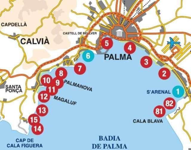 Baaien Belangrijkste De Een En Illu Mallorca Baaien Mallorca