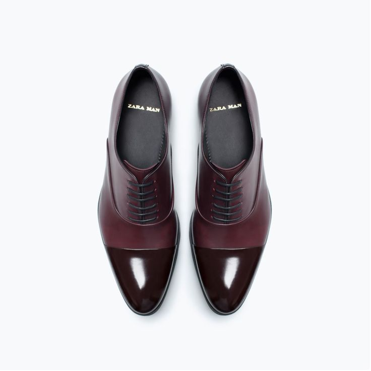 Image 4 of SARTORIAL LEATHER OXFORD SHOE from Zara