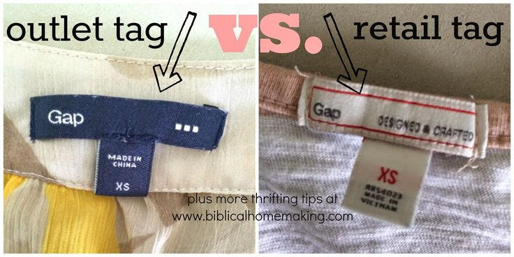 5 thrifty finds: J.Crew, Gap, and how to tell the difference in outlet vs. retail tags
