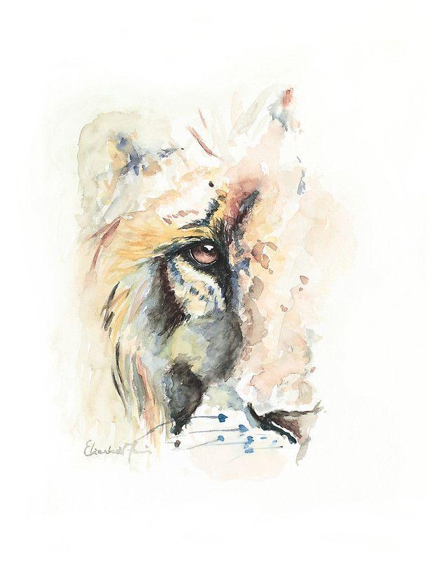 watercolor lion | ElizabethAmelia › Portfolio › Watercolor Lion of Judah