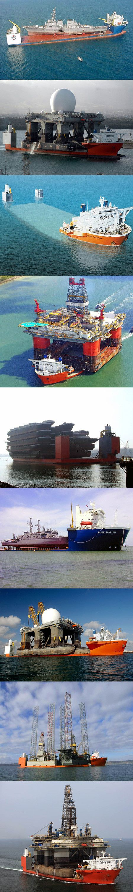Amazing Look at Blue Marlin, a Giant Vessel Used to Transport Ships and Large Structures - TechEBlog