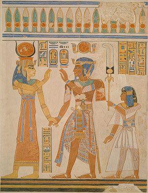 Osiris Wall Painting In Tomb Of Pharoah Horemheb
