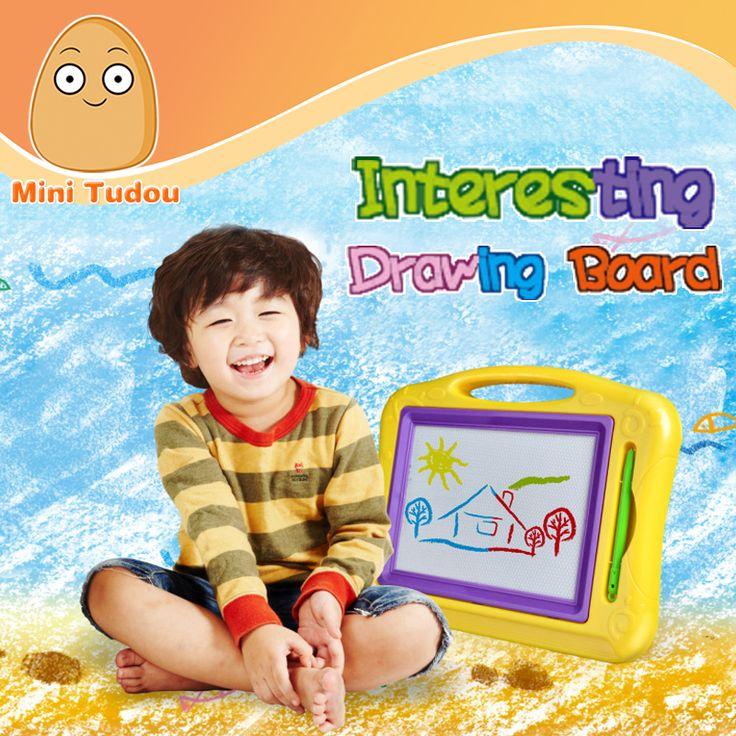 Minitudou Preschool Toy Magnetic Drawing Board Baby Kid Child Writing Board Plastic Paint Pad Doodle Writing Painting