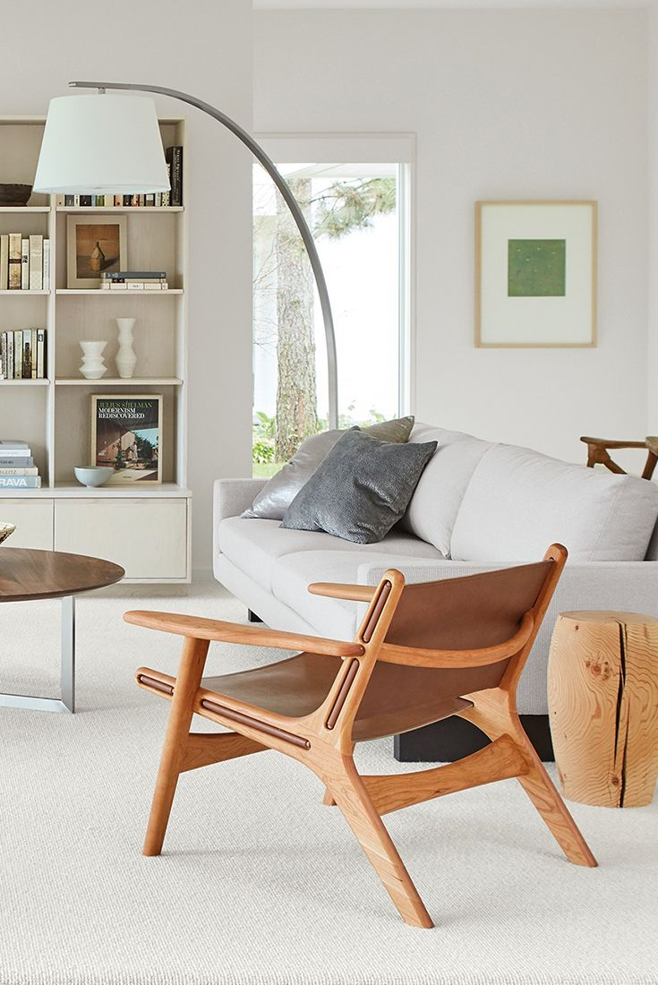 Modern lounge chairs for living room - Lars Leather Lounge Chair Modern Living Room