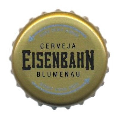 Cerveja Eisenbahn Pale Ale, estilo Belgian Pale Ale, produzida por Cervejaria Sudbrack, Brasil. 4.8% ABV de álcool.