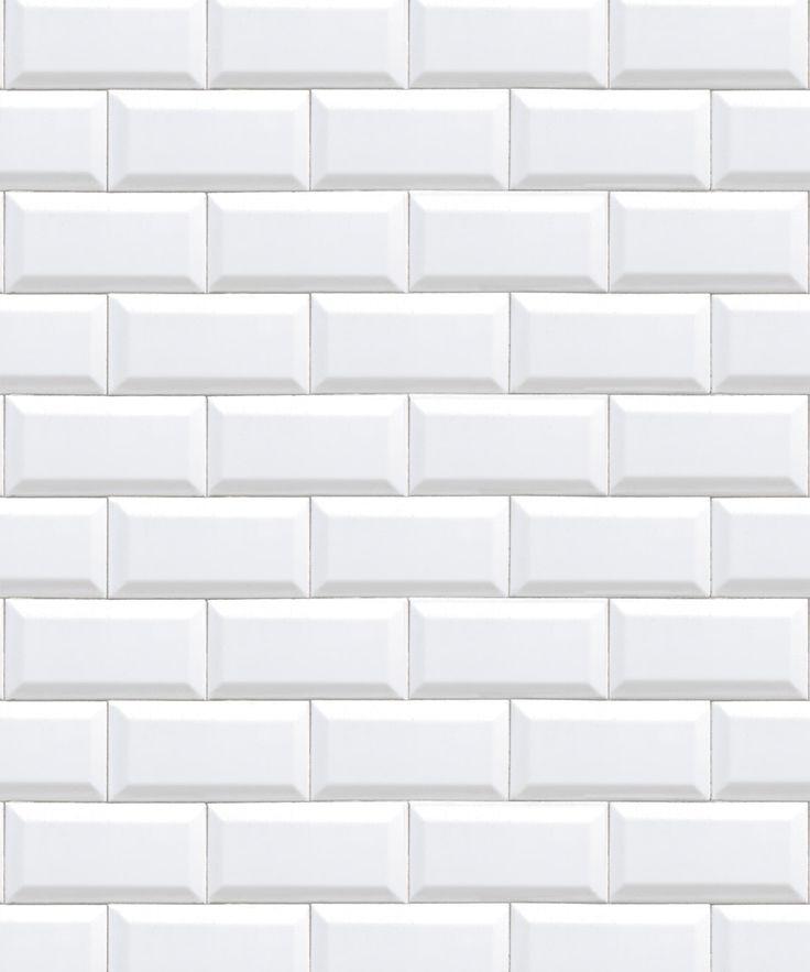 White Subway Tiles Removable Wallpaper