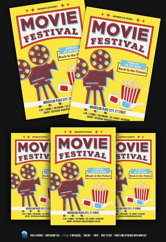 Movie Festival / Night Flyer | Horror Graphic Design | Edit