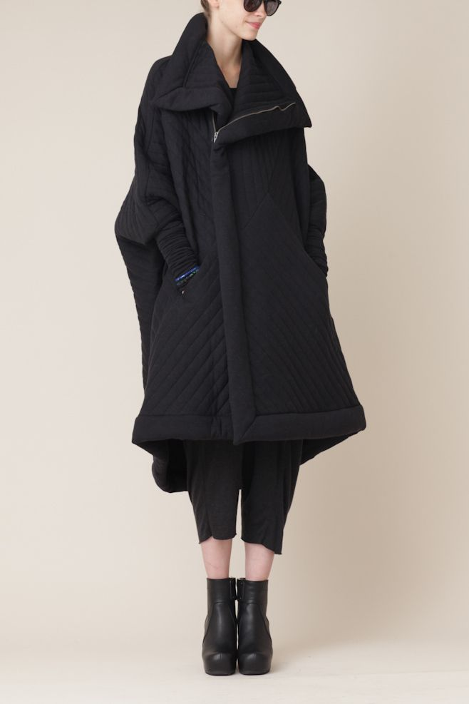 Totokaelo - Rick Owens Lilies Quilted Sail Coat