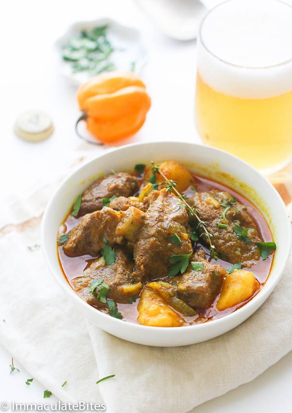 Jamaican Curry Goat, recipe from African Bites.
