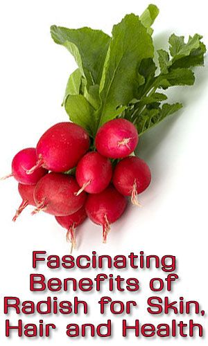 Fascinating Benefits of Radish for Skin, Hair and Health http://fitering.com/benefits-of-radish/