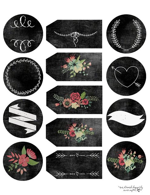 24 best images about chalkboard labels and templates diy also on pinterest for Chalkboard labels printable