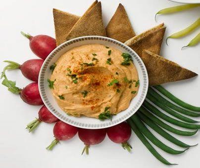 Receita de hummus de lentilha vermelha