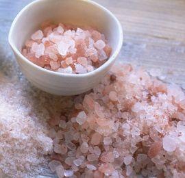 Use pink Himalayan salt for salt water flush