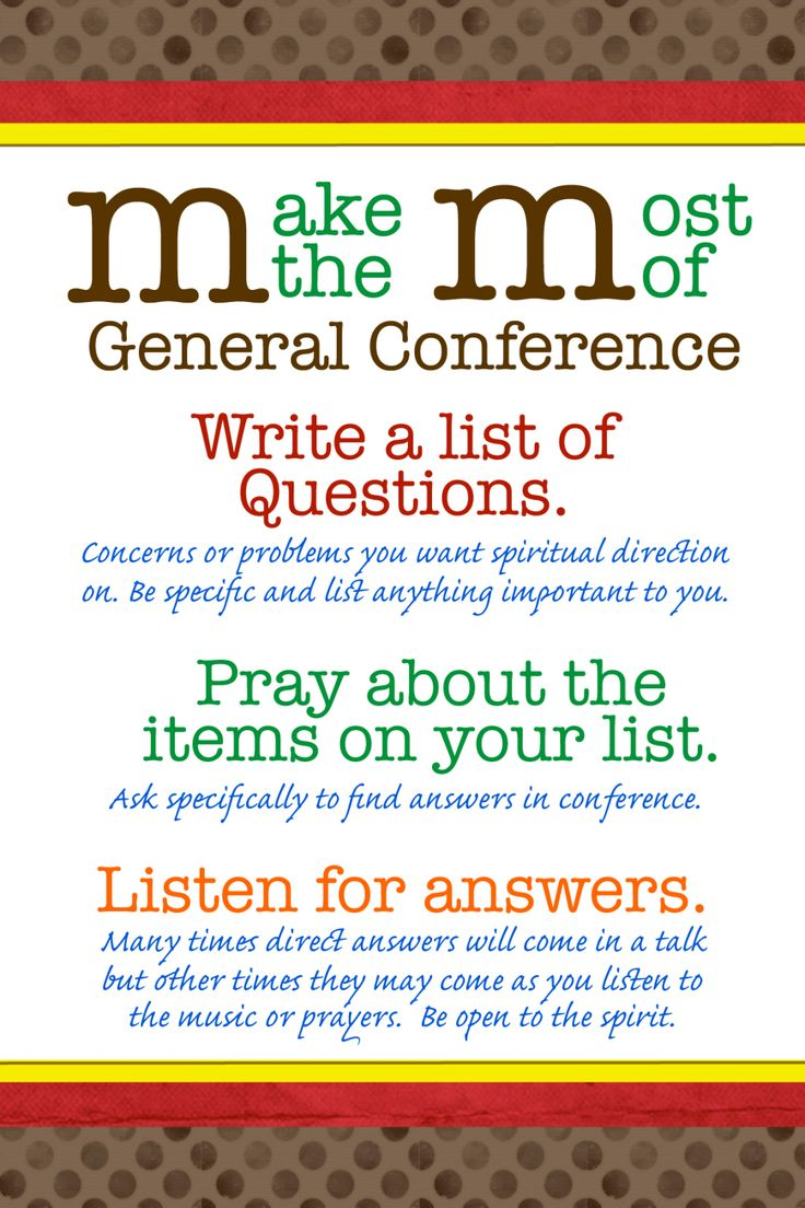 M&M General Conference