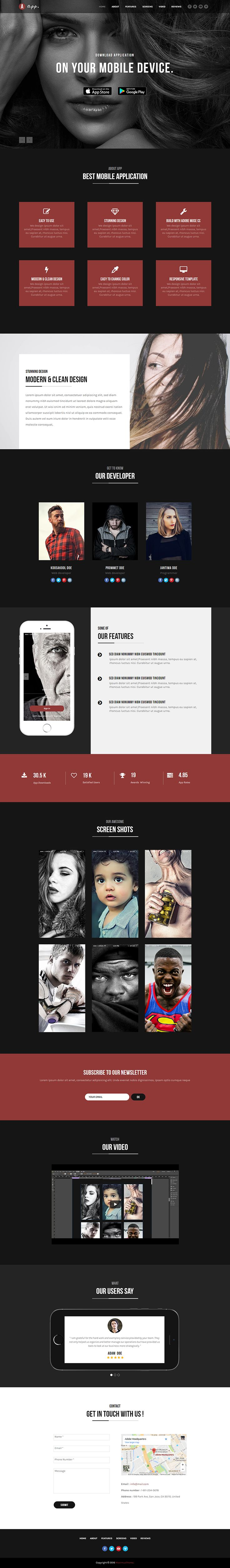 """Check out my @Behance project: """"App - Responsive App Template""""…"""