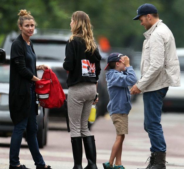 Tom & Gisele with Bridget Moynahan and John Moynahan (Tom's son)