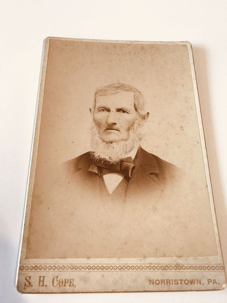 Identified Grandfather Kriebel Cabinet Photo SH Cope Norristown Pennsylvania Man  | eBay
