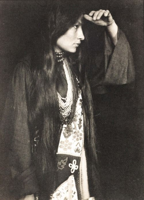 feverfuckery:  'Zitkala-Ša, a Yankton Sioux Native American woman who made her mark as a champion of Native American rights and as an accomplished author and musician. She and her husband, Raymond Bonnin, founded the National Council of American Indians in 1926 to advocate for full citizenship rights for Native Americans.'