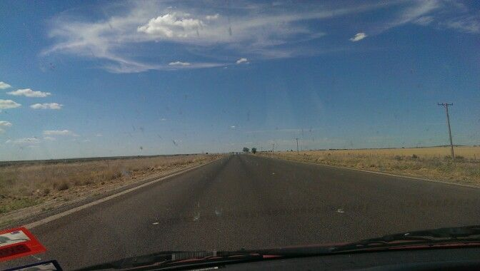 Newell highway,  heading to Moree NSW.  Bugger all traffic.