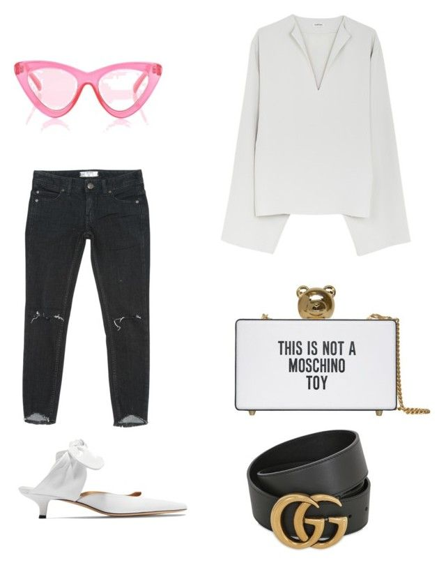 """Untitled #146"" by dariatamasan on Polyvore featuring Le Specs, The Row, Free People, Moschino and Gucci"