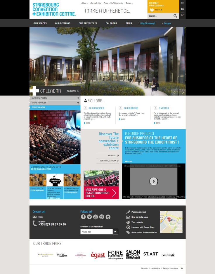 Congress Convention and Exhibition Strasbourg website inspiration