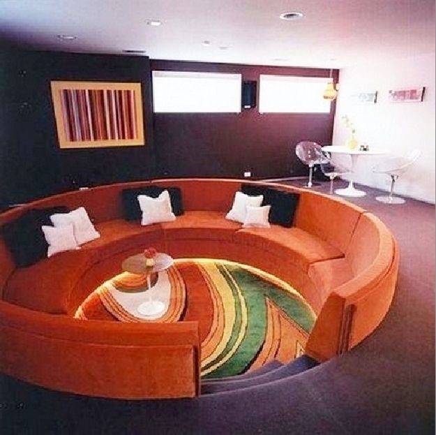 19 Best Retro Conversation Pits Images On Pinterest Conversation Pit Sunken Living Room And