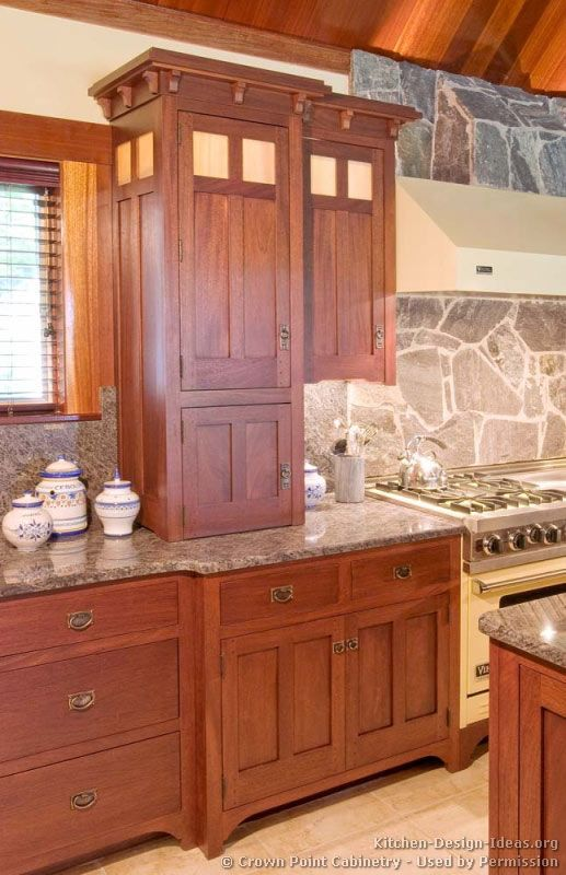 Craftsman Kitchen© Crown Point Cabinetry (crown-point.com). Used by permission. - from Kitchen-Design-Ideas.org