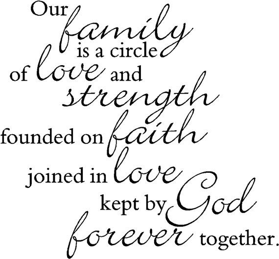 Our Family is a circle of strength and love 2  by VisionsInVinyl, $22.00