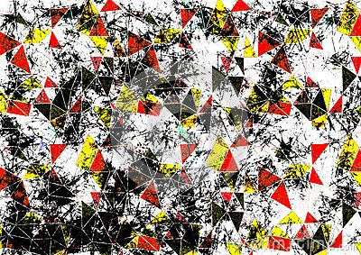Samenvatting getrokken achtergrond Artistiek behang in rode, zwarte, witte kleuren