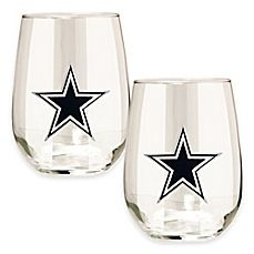 image of NFL Dallas Cowboys Stemless Wine Glass (Set of 2)