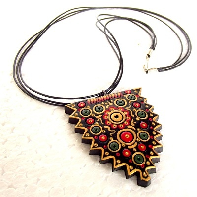 paintedEarth.in | Terracotta Neckpiece (Shield Inspired)
