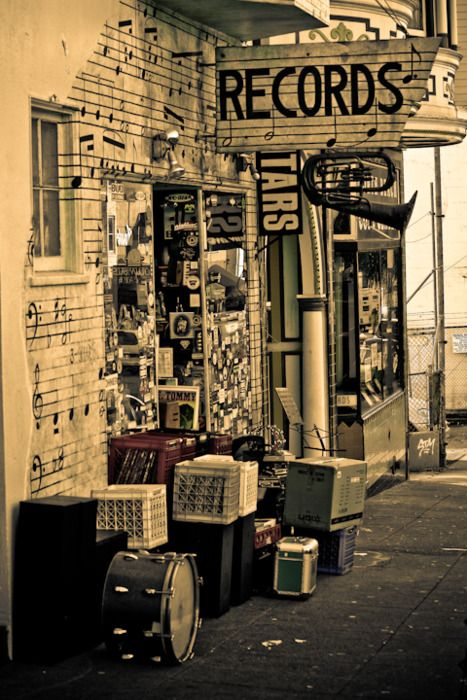 Old Record Store - miss going to the record store, back in the day, to look at…
