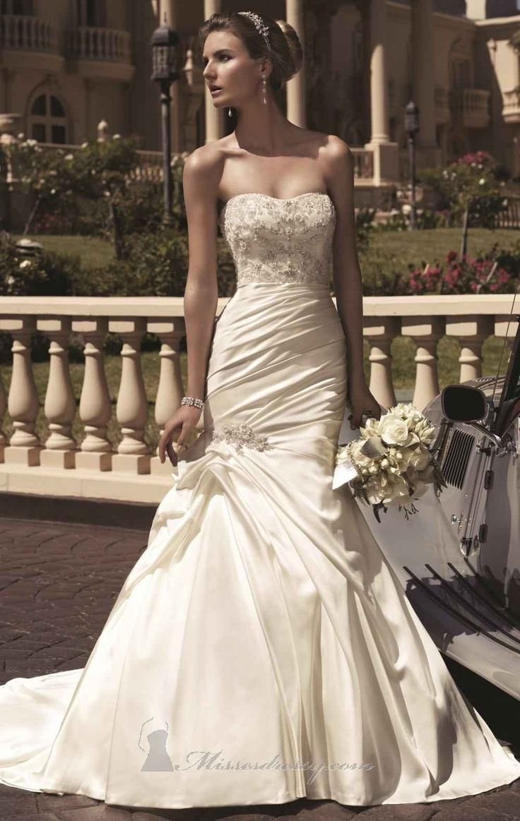 Casablanca Bridal Gown style 2104 Satin A-Line Strapless $283.99 Wedding Dresses 2013