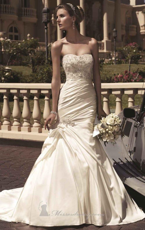 Bridal water lily 2226 wedding dresses photos brides com - Casablanca Bridal Gown Style 2104 Satin A Line Strapless 283 99 Wedding Dresses 2013