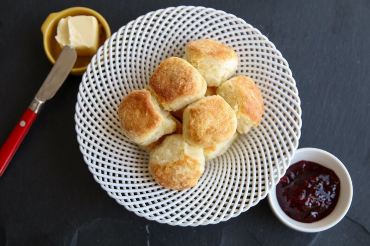 You can cook just about anything in the Air Fryer. Look how beautiful these buttermilk biscuits turned out.
