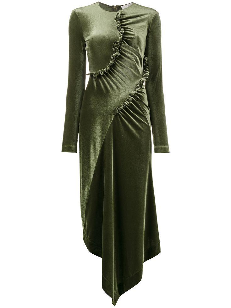 Preen By Thornton Bregazzi асимметричное платье с рюшами