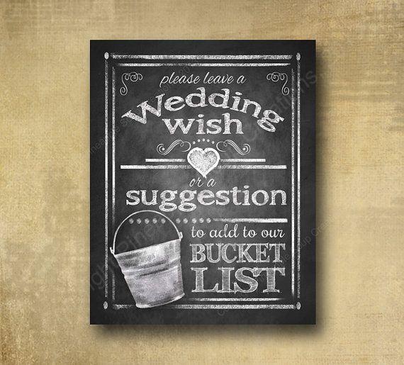 Wedding Wish or Suggestions for Bucket List  by BeforeYouSayIDo