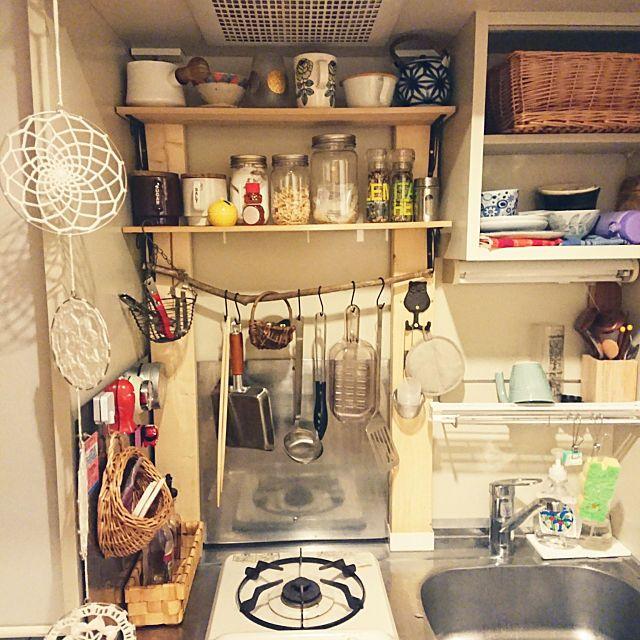 1kで 一人暮らしの Diy キッチン 一人暮らし 1k ラブリコ 狭いキッチンについてのインテリア実例 久し振りにキッチン 2019 02 05 20 07 16に共有されました 狭い キッチン 狭いキッチン レイアウト キッチン Diy